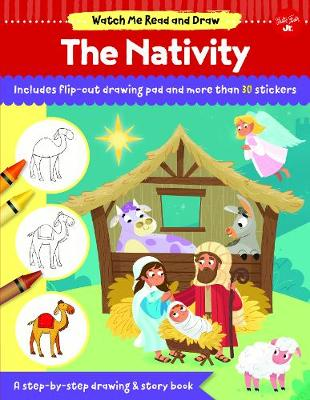 Watch Me Read and Draw: The Nativity: A step-by-step drawing & story book