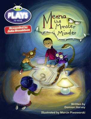 Bug Club Plays Grey/3A-4C Meena the Monster Minder 6-pack ENG