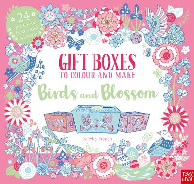 Gift Boxes to Colour and Make: Birds and Blossom