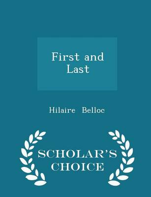 First and Last - Scholar's Choice Edition