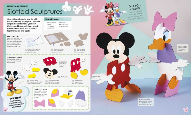 Disney Ideas Slotted Sculptures Activity