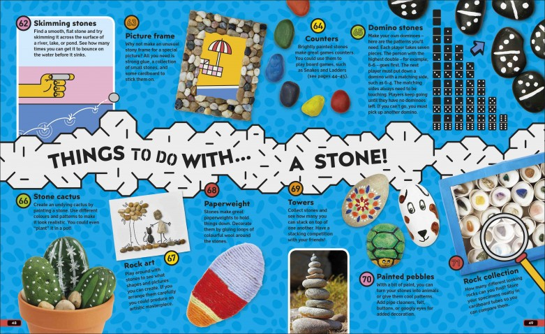 Unlock Your Imagination book stone activity