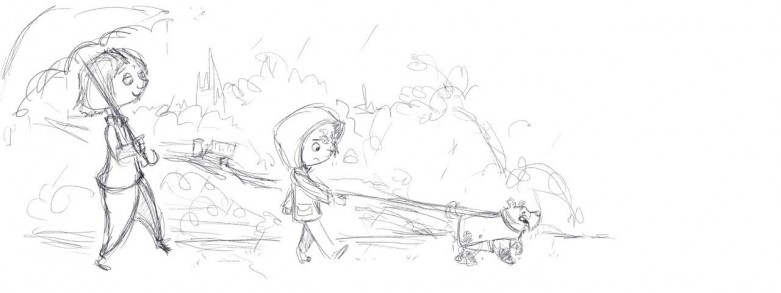 Danny and the Dream Dog illustration Work in Progress