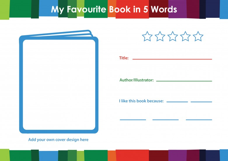 My Favourite Book in 5 Words Book Review Template