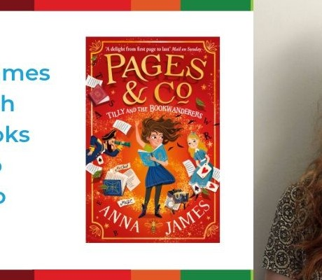 Image of author Anna James and her book Pages & Co